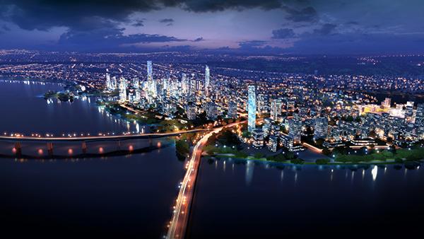 太湖新城夜景